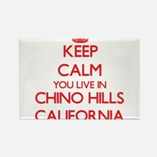 Keep calm you live in Chino Hills Californ Magnets