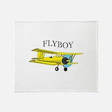 BIPLANE FLYBOY Throw Blanket