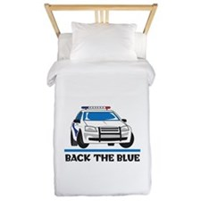 BACK THE BLUE Twin Duvet