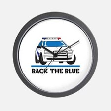 BACK THE BLUE Wall Clock