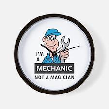 MECHANIC NOT A MAGICIAN Wall Clock