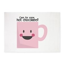 Care For Some Hot Chocolate? 5'x7'Area Rug