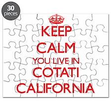 Keep calm you live in Cotati California Puzzle