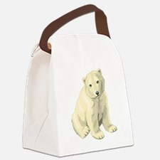 Baby Polar Bear Canvas Lunch Bag