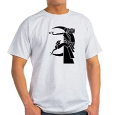 Art Deco Diana the Huntress and Greyhound T-Shirt