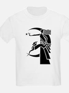 Art Deco Diana the Huntress and Greyhound T-Shirt