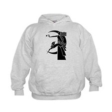 Art Deco Diana the Huntress and Greyho Hoodie
