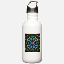 Blue Cathedral Window Water Bottle