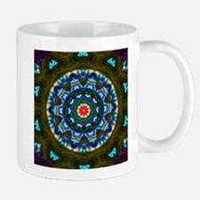 Blue Cathedral Window Mugs