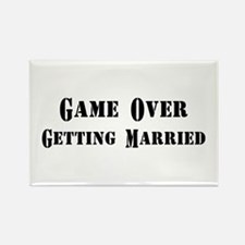 Game Over Getting Married Rectangle Magnet