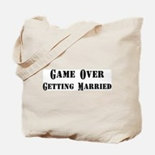 Game Over Getting Married Tote Bag