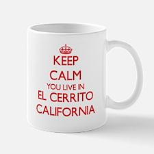 Keep calm you live in El Cerrito California Mugs