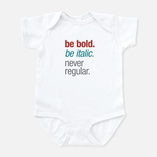 Bold Italic Infant Bodysuit