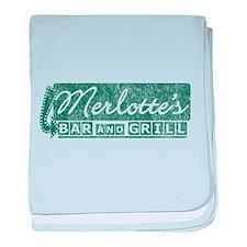 Vintage Merlotte's Bar & Grill baby blanket