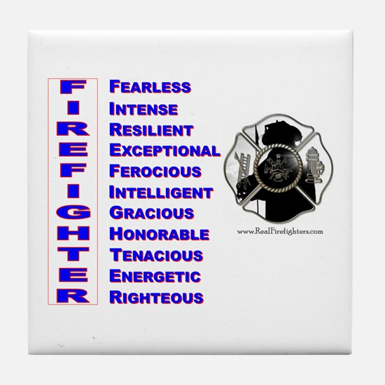 What is a firefighter Tile Coaster