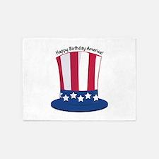 Happy Birthday America! 5'x7'Area Rug