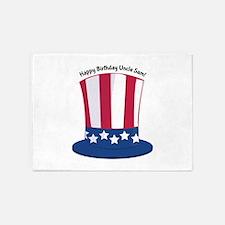 Happy Birthday Uncle Sam! 5'x7'Area Rug
