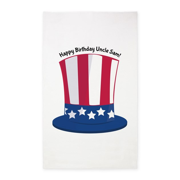 happy birthday uncle coloring pages - happy birthday uncle sam area rug by windmill38