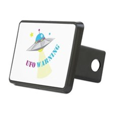 UFO Warning Hitch Cover