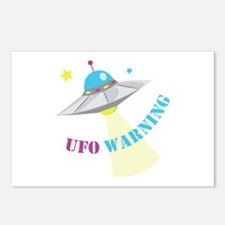 UFO Warning Postcards (Package of 8)