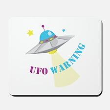 UFO Warning Mousepad
