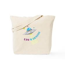 UFO Warning Tote Bag