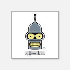 """Futurama Alt Shift Kill Square Sticker 3"""" x 3"""""""