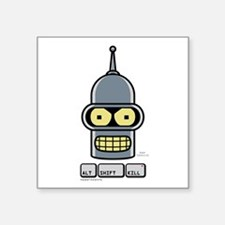 """Futurama Smile Square Sticker 3"""" x 3"""""""