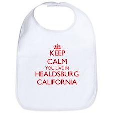 Keep calm you live in Healdsburg California Bib