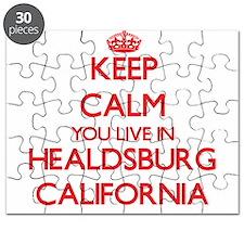 Keep calm you live in Healdsburg California Puzzle