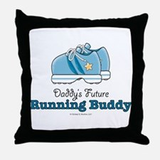 Daddy's Running Buddy Shoes Throw Pillow