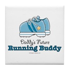 Daddy's Running Buddy Shoes Tile Coaster