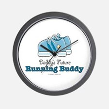 Daddy's Running Buddy Shoes Wall Clock