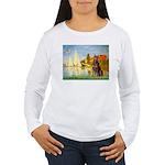 Regatta / Red Doberman Women's Long Sleeve T-Shirt