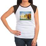Regatta / Red Doberman Women's Cap Sleeve T-Shirt