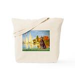 Regatta / Red Doberman Tote Bag