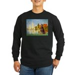 Regatta / Red Doberman Long Sleeve Dark T-Shirt