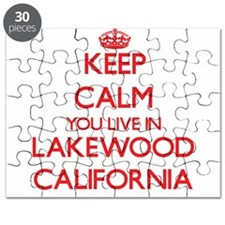 Keep calm you live in Lakewood California Puzzle