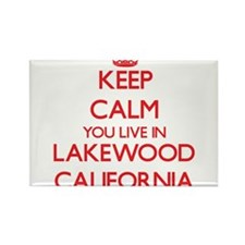 Keep calm you live in Lakewood California Magnets