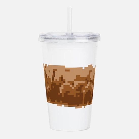 8 Bit Pixel Poop Acrylic Double-wall Tumbler