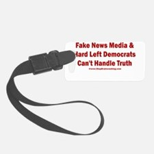 Fake News Can't Handle Truth Luggage Tag