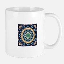 Sacred Circle of Love, Peace, and Harmony Blu Mugs
