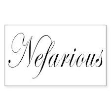 Nefarious Decal