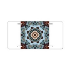 Loving Waves of Energy Blue Aluminum License Plate
