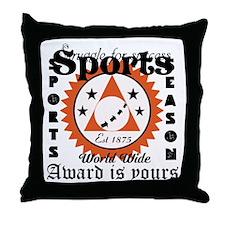 Sports Quotes T-Shirt Design Throw Pillow