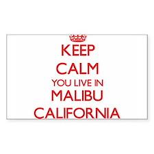 Keep calm you live in Malibu California Decal