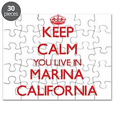 Keep calm you live in Marina California Puzzle