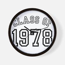 Class of 1978 Wall Clock