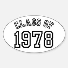 Class of 1978 Oval Bumper Stickers
