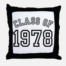 Class of 1978 Throw Pillow